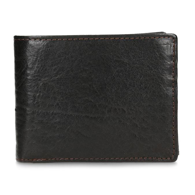 Tmavě hnědá pánská kožená peněženka bata, hnědá, 944-4229 - 26