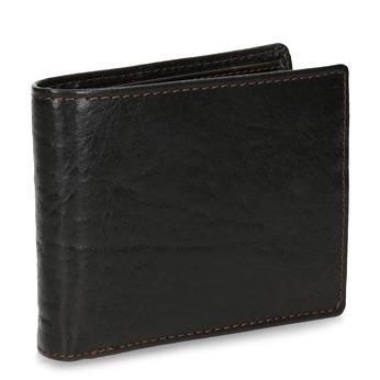 Tmavě hnědá pánská kožená peněženka bata, hnědá, 944-4229 - 13