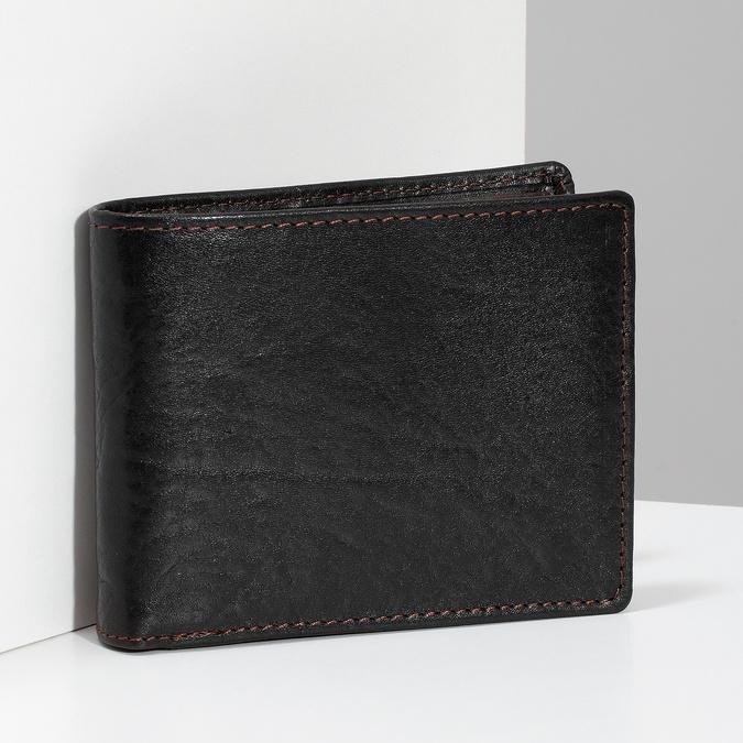 Tmavě hnědá pánská kožená peněženka bata, hnědá, 944-4229 - 17