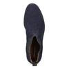 Tmavě modrá kožená pánská Chelsea obuv vagabond, modrá, 813-6153 - 17