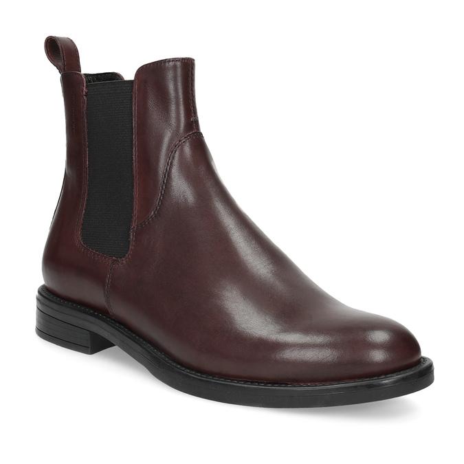 Hnědá kožená dámská Chelsea obuv vagabond, hnědá, 516-4130 - 13