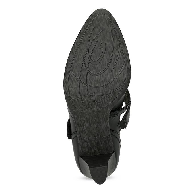 Černé lodičky šíře G s asymetrickým páskem, černá, 626-6649 - 18