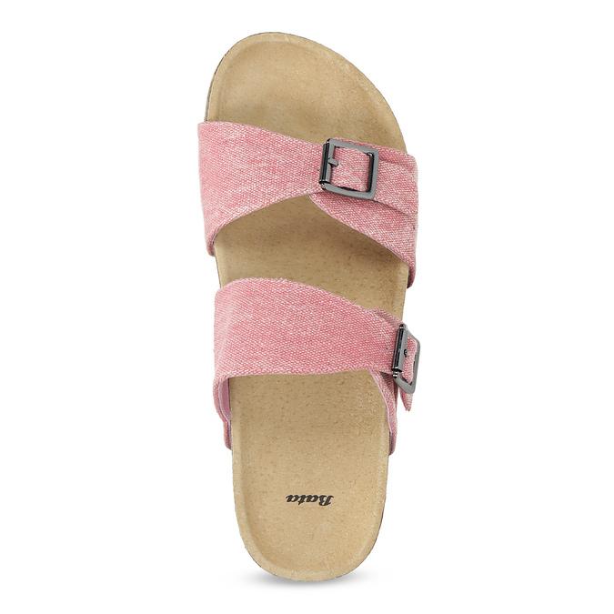 Dámské korkové pantofle růžové bata, růžová, 579-5625 - 17