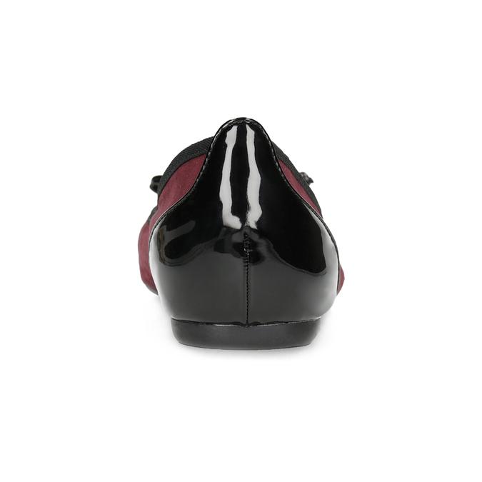 Vínové baleríny s lakovanou špicí a patou bata, červená, 529-5640 - 15