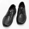 Pánské černé kožené ležérní polobotky bata, černá, 824-6630 - 16