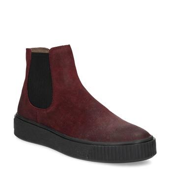 Kožená vínová dámská Chelsea obuv bata, červená, 596-5713 - 13