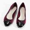 Vínové baleríny s lakovanou špicí a patou bata, červená, 529-5640 - 16