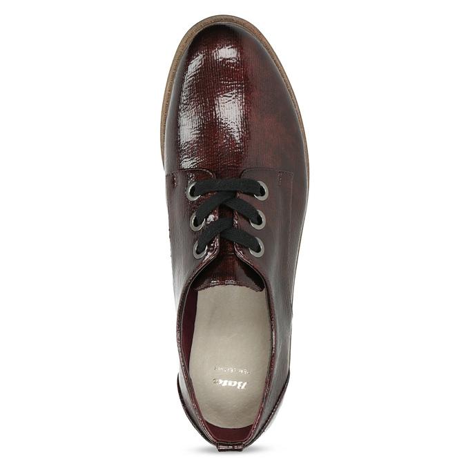 Vínové dámské polobotky s ležérní podešví bata, červená, 521-5639 - 17