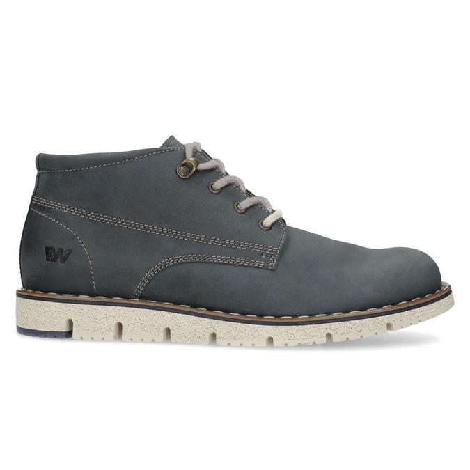 Pánská kožená kotníčková modrá obuv weinbrenner, modrá, 846-9658 - 19