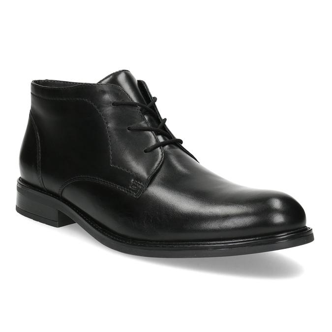 Kožená pánská kotníčková obuv bata, černá, 824-6893 - 13