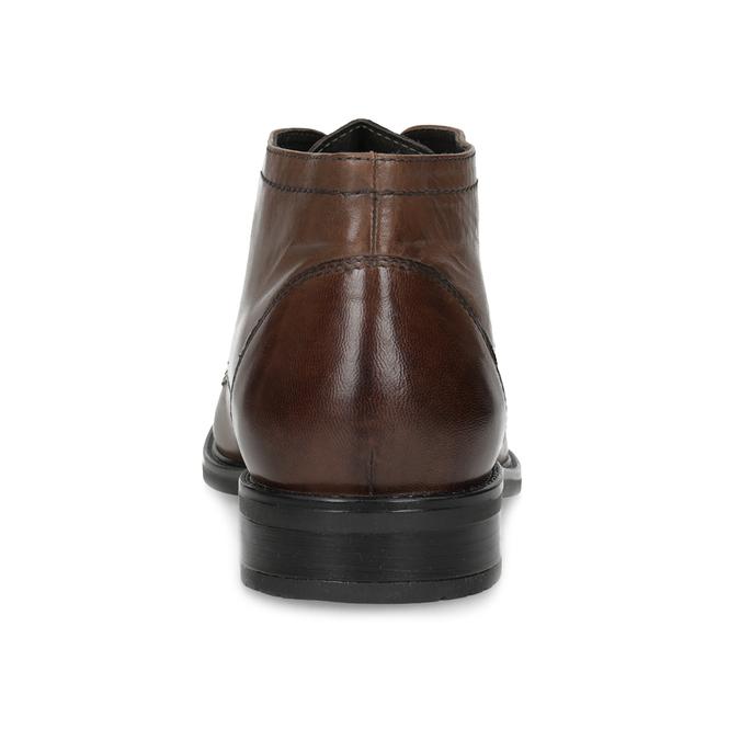 Pánská kožená kotníčková obuv bata, hnědá, 826-3893 - 15