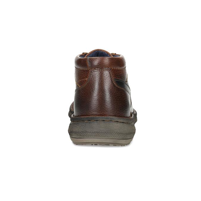 Kožená pánská kotníčková obuv bata, hnědá, 846-4718 - 15