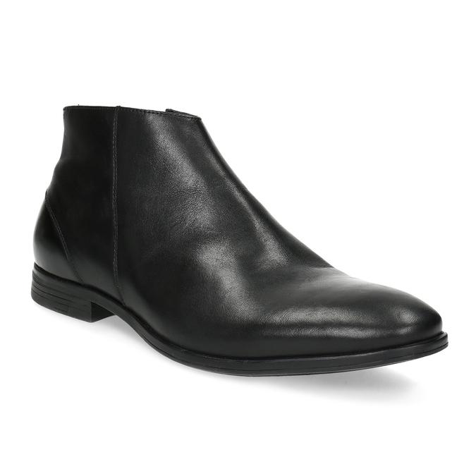 Kožená kotníčková obuv elegantní bata, černá, 824-6634 - 13