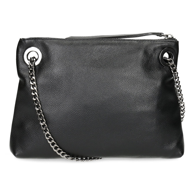 Kožená černá Crossbody kabelka bata, černá, 964-6602 - 16