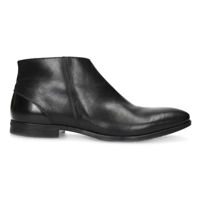Kožená kotníčková obuv elegantní bata, černá, 824-6634 - 19