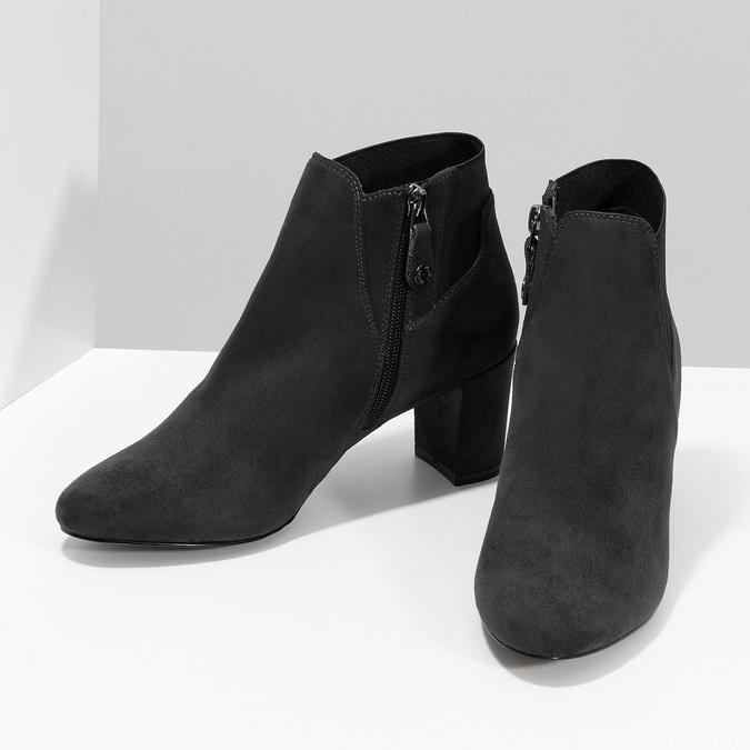 Šedá dámská kotníčková obuv s elastickou patou bata, šedá, 799-2625 - 16
