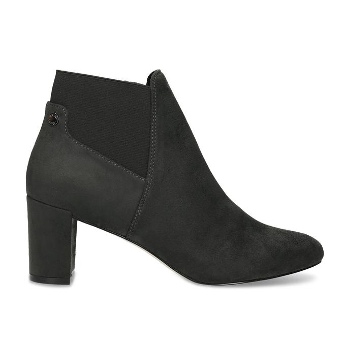Šedá dámská kotníčková obuv s elastickou patou bata, šedá, 799-2625 - 19