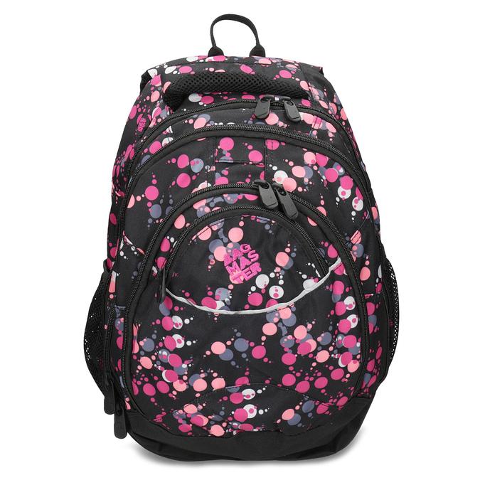 Školní batoh s puntíky bagmaster, růžová, 969-5719 - 26