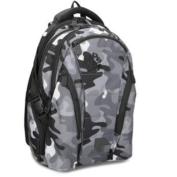 Maskáčový šedý školní batoh bagmaster, šedá, 969-2718 - 13