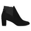 Dámská černá kotníčková obuv na podpatku bata, černá, 799-6625 - 19