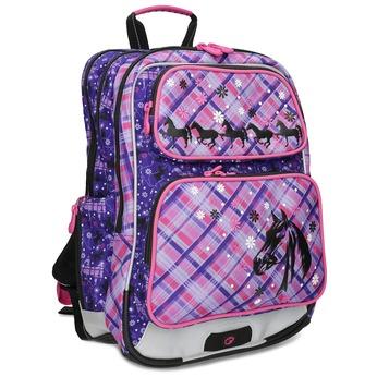 Školní aktovka s koňmi bagmaster, růžová, 969-9726 - 13
