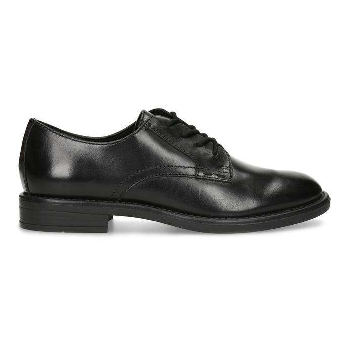 Černé dámské kožené polobotky bata, černá, 524-6666 - 19