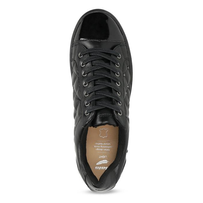 Dámské prošívané tenisky černé bata-light, černá, 541-6603 - 17