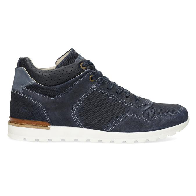 Tmavě modré kožené tenisky bata, modrá, 846-9717 - 19