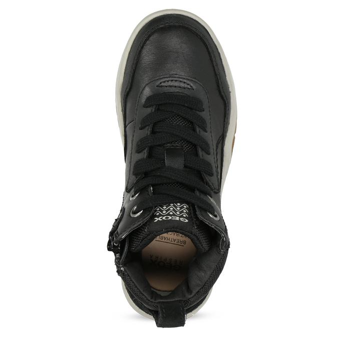 Kožená kotníčková obuv chlapecká geox, černá, 326-6007 - 17