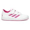 Dívčí bílo-růžové tenisky adidas, růžová, 301-5519 - 19