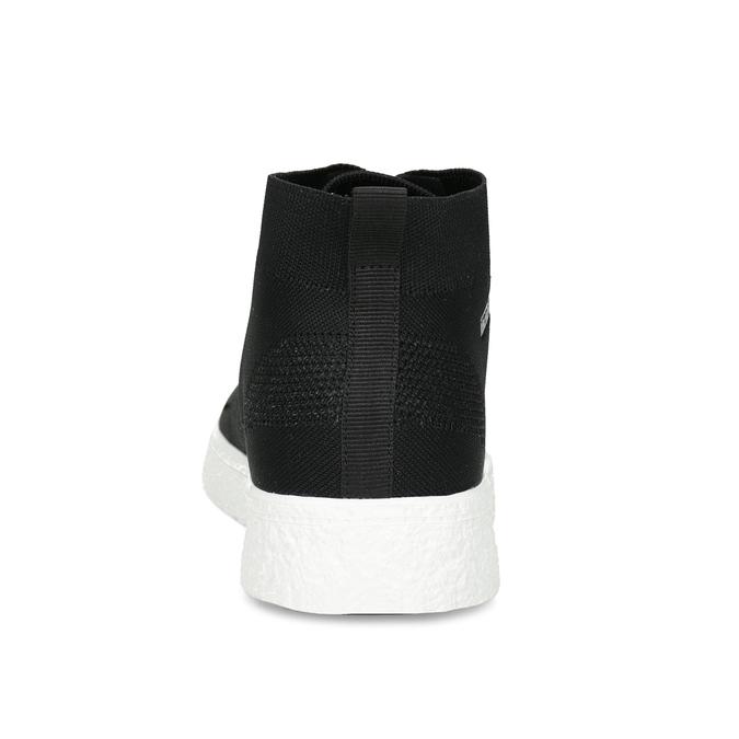 Pánské kotníčkové tenisky z úpletu černé north-star, černá, 849-6632 - 15