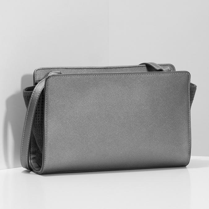 Crossbody kabelka s kamínky bata, šedá, 961-1885 - 17