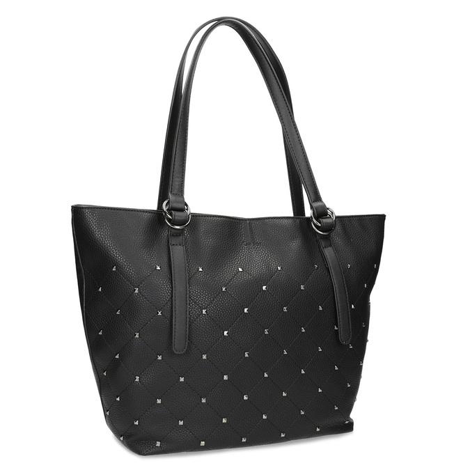 Černá kabelka se cvočky gabor-bags, černá, 961-6036 - 13