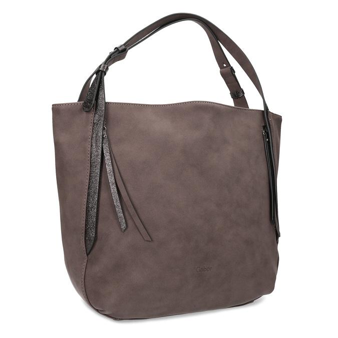 Hnědá kabelka se střapci gabor-bags, hnědá, 961-4019 - 13