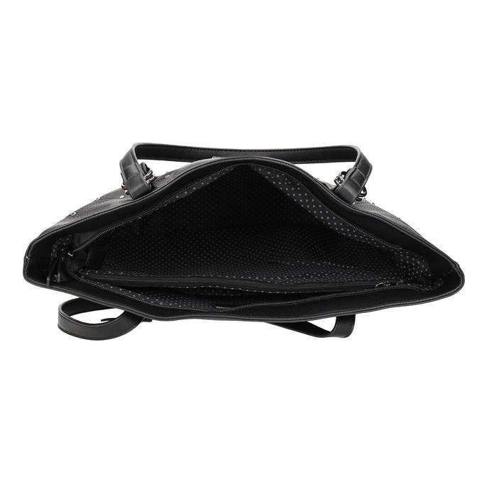 Černá kabelka se cvočky gabor-bags, černá, 961-6036 - 15