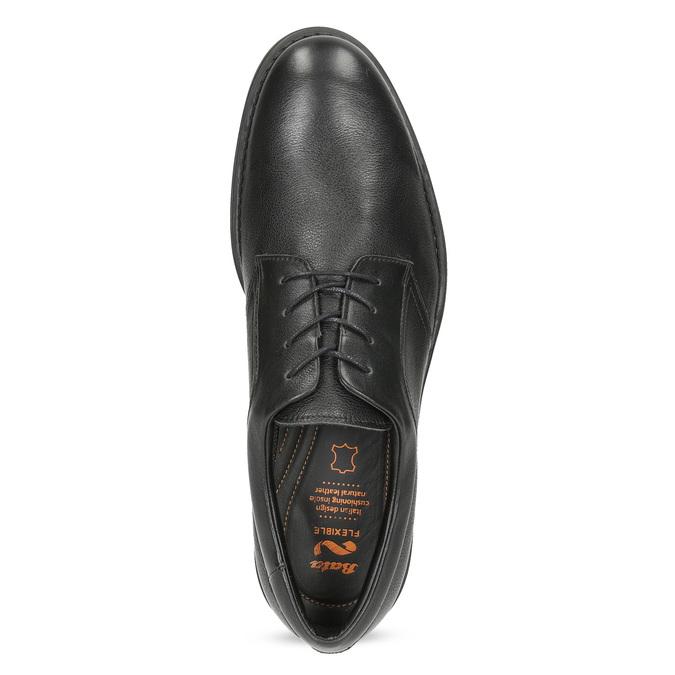 Pánské kožené polobotky černé flexible, černá, 824-6766 - 17