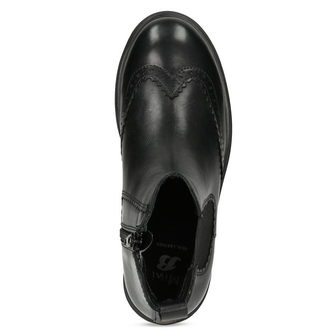 Dětská kožená Chelsea obuv mini-b, černá, 394-6425 - 17