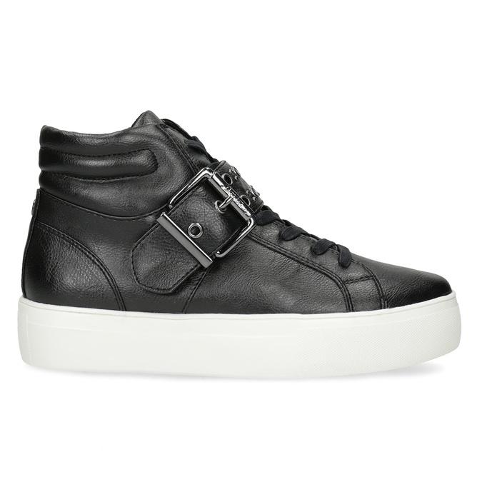 Dámské kotníčkové tenisky černé bata-light, černá, 591-6630 - 19