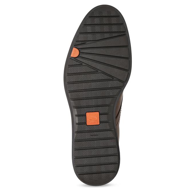 Kotníčková kožená pánská obuv hnědá flexible, hnědá, 896-4707 - 18