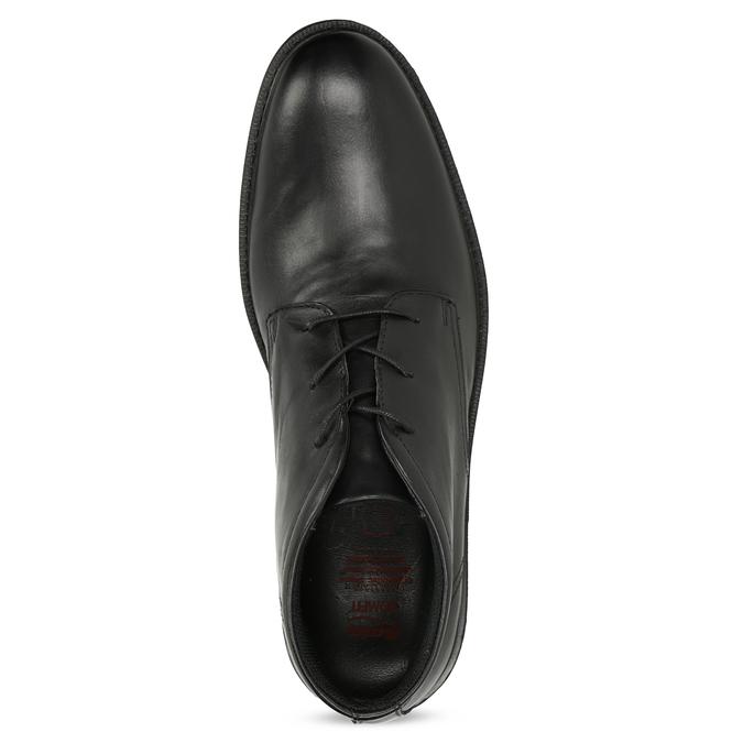 Kožená kotníčková obuv černá pánská hladká comfit, černá, 824-6822 - 17