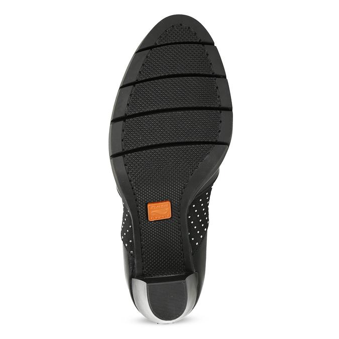 Dámské polobotky na podpatku kožené flexible, černá, 714-6600 - 18