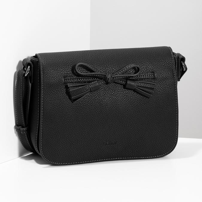 Crossbody kabelka s mašlí gabor-bags, černá, 961-6079 - 17
