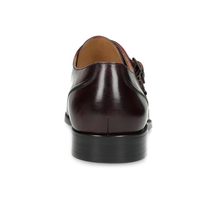 Pánské kožené Monk Shoes polobotky bata, červená, 826-5738 - 15