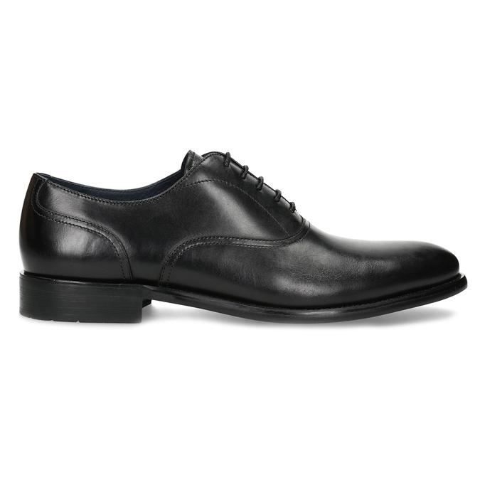 Pánské černé kožené Oxford polobotky bata, černá, 824-6615 - 19