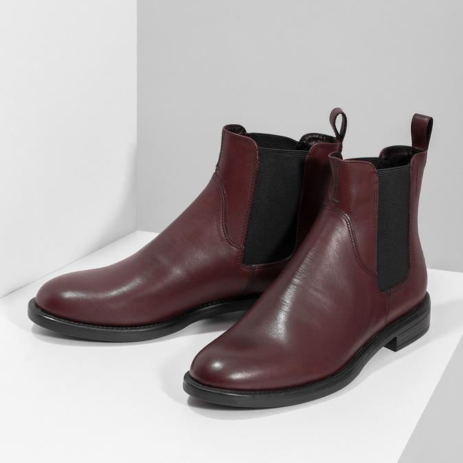 Hnědá kožená dámská Chelsea obuv vagabond, hnědá, 516-4130 - 16