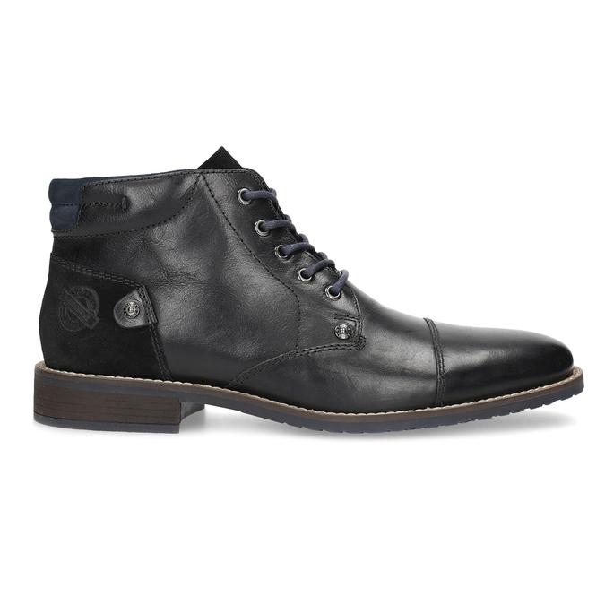 Kotníčková pánská kožená obuv bata, černá, 826-6611 - 19