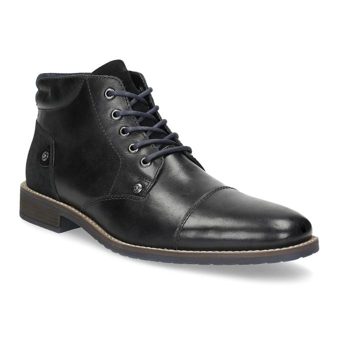 Kotníčková pánská kožená obuv bata, černá, 826-6611 - 13