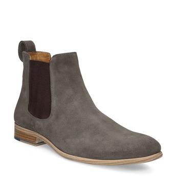 Pánská kožená obuv v Chelsea stylu bata, hnědá, 823-8614 - 13