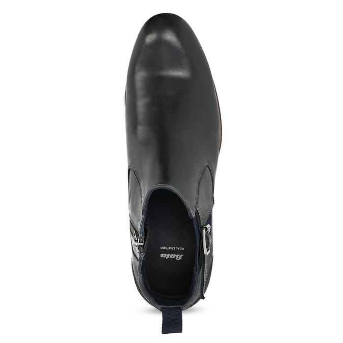 Černá kožená Chelsea obuv s přezkou bata, černá, 826-6781 - 17