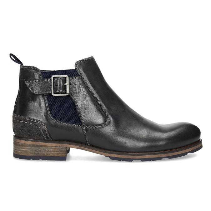 Černá kožená Chelsea obuv s přezkou bata, černá, 826-6781 - 19